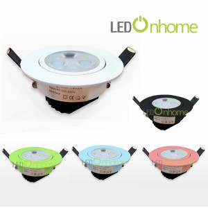 LED Ceiling light MSH Lens 3w. Multi Color case