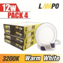 LED PANEL Slim Round 12W PACK 4