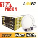LED  PANEL Slim Round 18W PACK 4