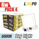 LED PANEL Slim Square  6W PACK 4