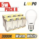 LED E27 STARBULB 5W PACK 8