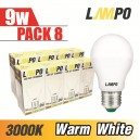 LED E27 STARBULB 9W PACK 8